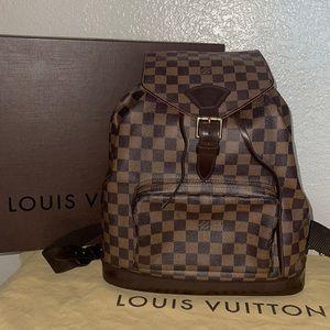 Authentic Louis Vuitton montsouris GM damier ebene